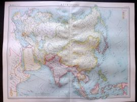 Bartholomew 1922 Large Map. Asia, Political.
